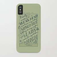 jane austen iPhone & iPod Cases featuring Jane Austen Covers: Emma by Leah Doguet
