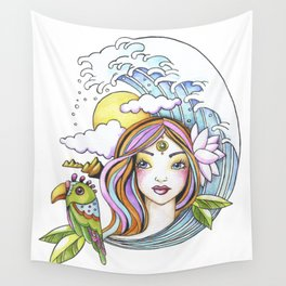 Island Girl Wall Tapestry