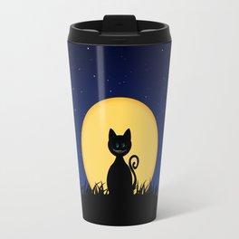 Halloween Cat Travel Mug