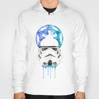 storm trooper Hoodies featuring Storm Trooper by Leigh Roundy