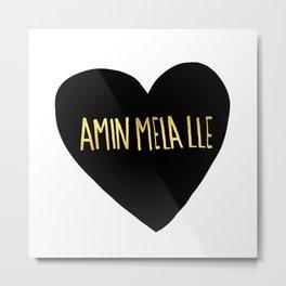 "Amin Mela Lle: ""I Love You"" in Elvish Metal Print"