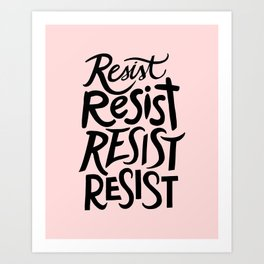 RESIST (pink) Art Print