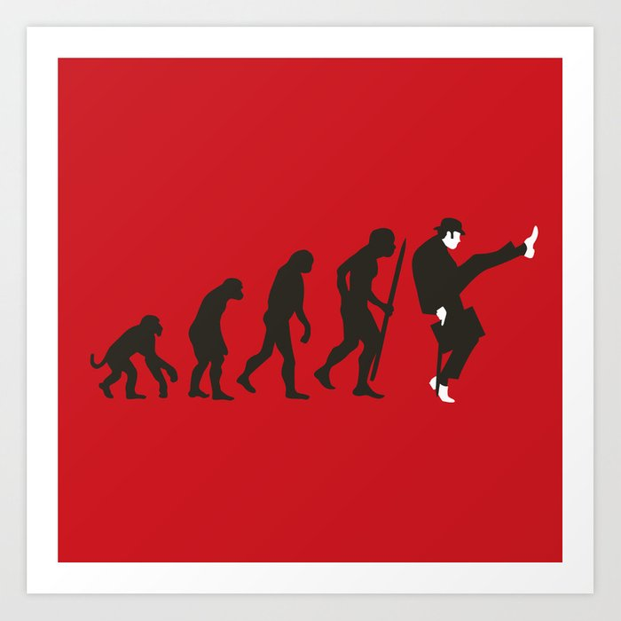 Evolution of silly walks Kunstdrucke
