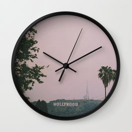 Rainy Hollywood - a rare sight Wall Clock