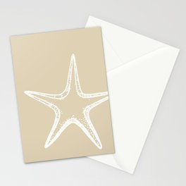Starfish Sand Tan Beige Stationery Cards