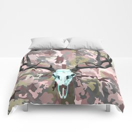 Camouflage Deer Collage Comforters