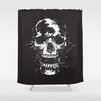 scream Shower Curtains featuring Scream by Balazs Solti
