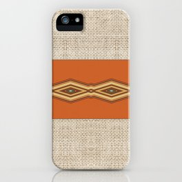Southwestern Earth Tone Texture Design iPhone Case