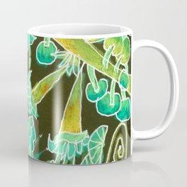 Irish Garden, Lime Green Flowers Dance in Joy Coffee Mug