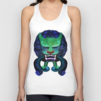 foo fighters Tank Tops featuring Foo dog by kitsunebis