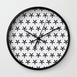 Nightmare? Starry Pattern 2, Grey Wall Clock