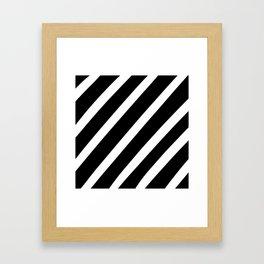 Black'n'White Stripes Framed Art Print