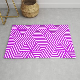Psychedelic purple - violet - Minimal Vector Seamless Pattern Rug