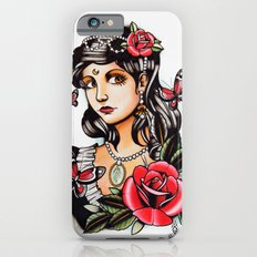 Girl with Butterflies - tattoo iPhone 6s Slim Case