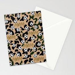 soccer mom leopard pattern Stationery Cards