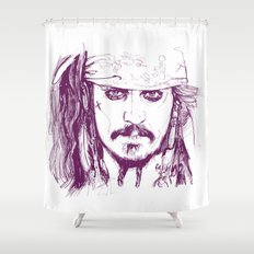 Captain Jack - Pirates of the Caribbean Shower Curtain