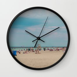 Beach Burnt in Chicago Wall Clock