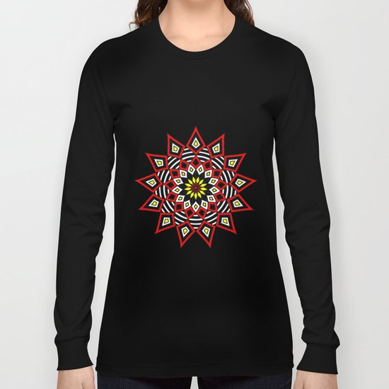 Stars Up to the Sky   Mandhala   Mother Star Long Sleeve T-shirt