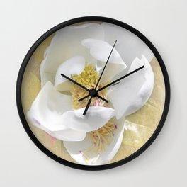 Sweet Southern Magnolia Wall Clock