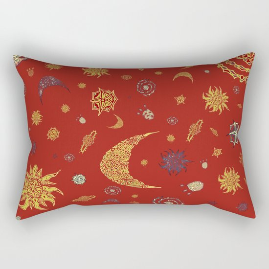 Christmas Space Pattern Rectangular Pillow