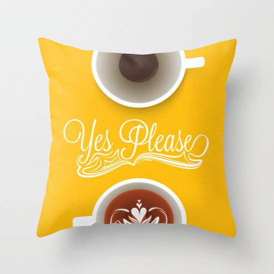 Yes Please Throw Pillow
