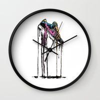 shoe Wall Clocks featuring SHOE by maivisto