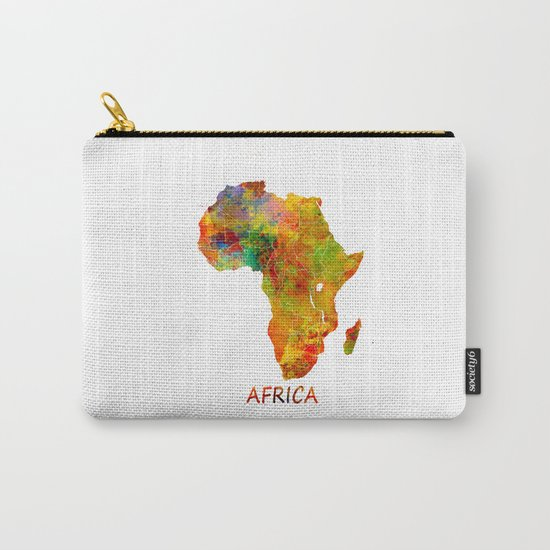 Africa map colored Carry-All Pouch
