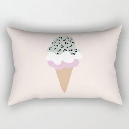 Leopard Ice Cream cone animal print summer trend girls pink peach Rectangular Pillow