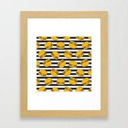 Burger Stripes By Everett Co Framed Art Print