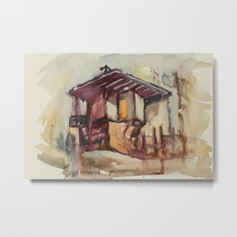Tryavna Old Town's Wooden House Metal Print