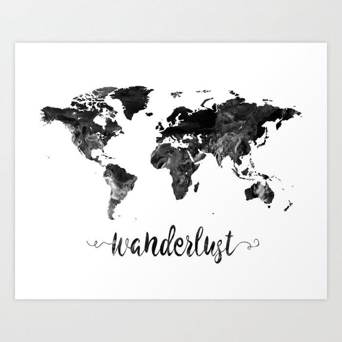 Wanderlust world map art print by zuzis society6 wanderlust world map art print gumiabroncs Image collections