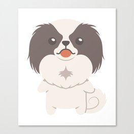 Japanese Chin Dog Gift Idea Canvas Print
