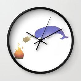 Toasting Marshmallows Wall Clock