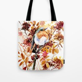 Robin Bird and Colors of Fall Tote Bag