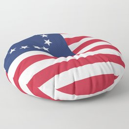 Betsy Ross USA flag - High Quality Image Floor Pillow