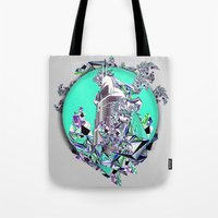 cityscape Tote Bags featuring Cityscape by infloence
