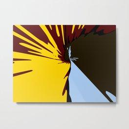 Waterfall Modern Art Colorful Scenery Metal Print