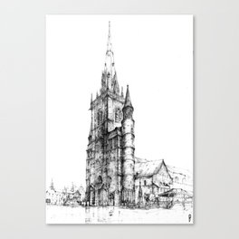 Collegiate Church of St Gertrude, Nivelles Canvas Print