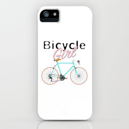 Bicycle Girl - June 12th - 200th Birthday of the Bicycle iPhone Case