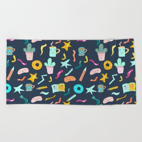 Desk Doodle I Beach Towel
