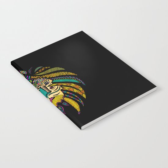 Tribal Lion on Black Notebook