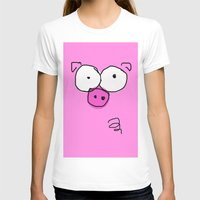 pig T-shirts featuring Pig by Frances Roughton