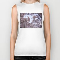 cherry blossoms Biker Tanks featuring Cherry Blossoms by Colesart