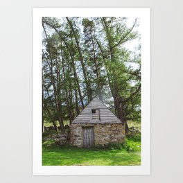 cabin in the woods. Art Print