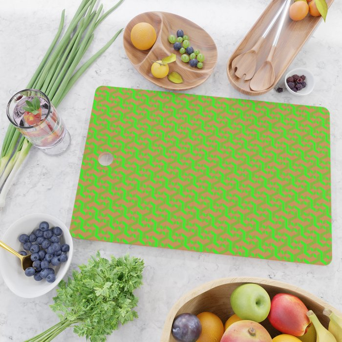 3d Pattern Cutting Board By Farfalina