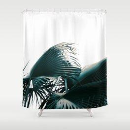 Blue Leaf Shower Curtain