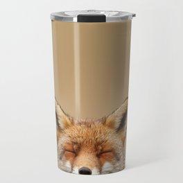 Zen Fox (Red Fox smiling) Travel Mug