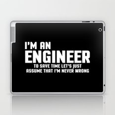 I'm An Engineer Funny Quote Laptop & iPad Skin