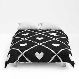 Always Near (from the Valentine set) (colors: midnight moon) Comforters