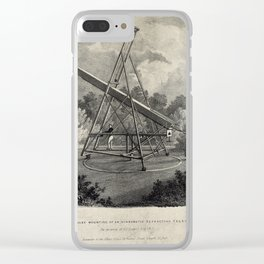 Temporary Mounting of an Achromatic Refracting Telescope Clear iPhone Case
